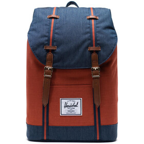 Herschel Retreat Sac à dos 19,5l, indigo denim/picante crosshatch/tan